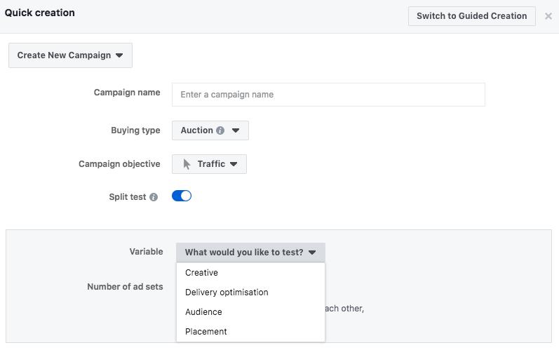 Facebook split test image