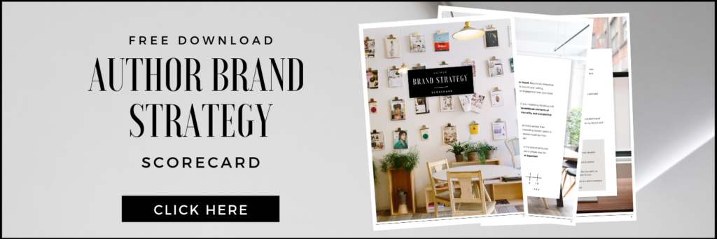 Author Brand Strategy Scorecard (Free Download)
