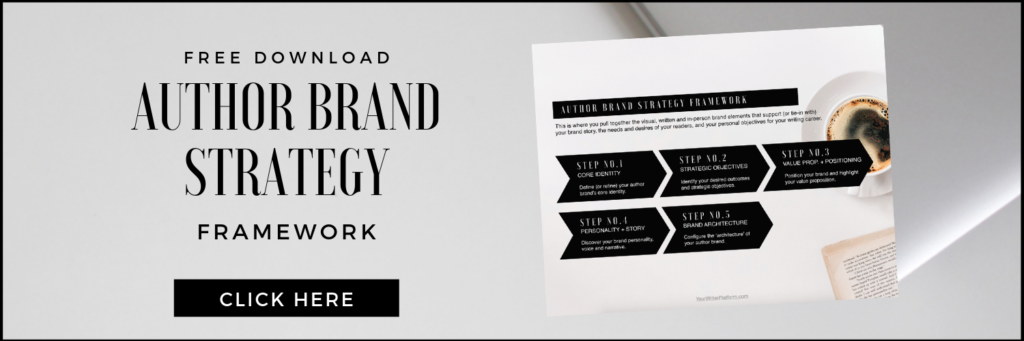 Author Brand Strategy Framework (free download)