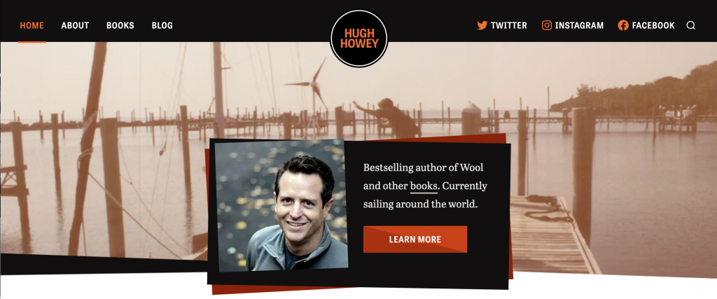 author website of bestselling author Hugh Howey
