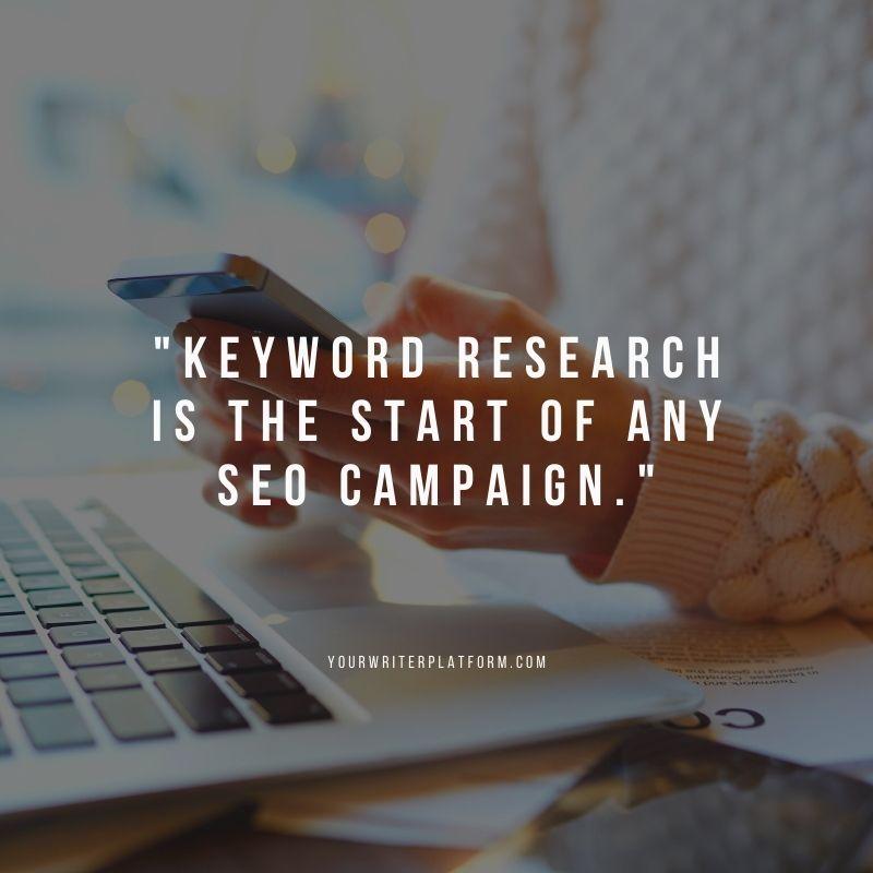Quote Keyword Research YourWriterPlatform.com